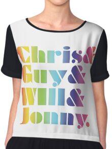 Coldplay Band Members Chiffon Top