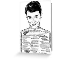 Save Ferris The Righteous Dude Greeting Card