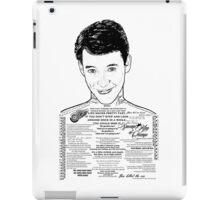 Save Ferris The Righteous Dude iPad Case/Skin