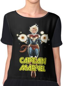 Captain Marvel America Chiffon Top
