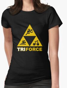 The TRIforce (yellow)  Womens Fitted T-Shirt