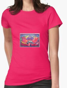 Puercos Viajeros (Traveling Pigs) Womens Fitted T-Shirt
