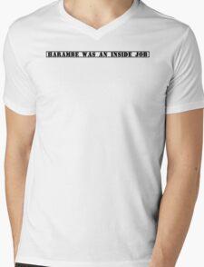 Harambe Conspiracy  Mens V-Neck T-Shirt