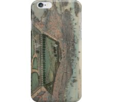 Vintage Pictorial Map of Boston MA (1850) iPhone Case/Skin