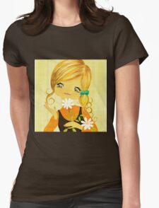 Sunshine Flower Girl Womens Fitted T-Shirt
