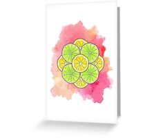 Sour and Sour Greeting Card