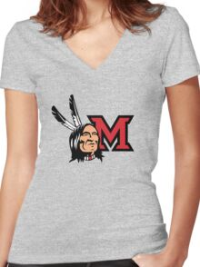 Miami Redskins Women's Fitted V-Neck T-Shirt