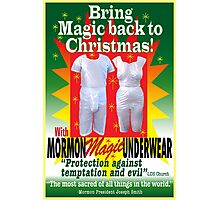 Mormon Underwear...Christmas Magic! Photographic Print