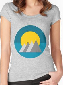 Uphill Ride Women's Fitted Scoop T-Shirt
