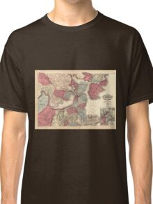 Vintage Map of Boston Massachusetts (1871) Classic T-Shirt