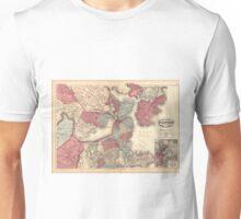 Vintage Map of Boston Massachusetts (1871) Unisex T-Shirt