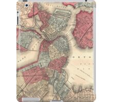 Vintage Map of Boston Massachusetts (1871) iPad Case/Skin