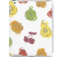 Cute pattern with watercolor painted fruit iPad Case/Skin