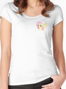 Pocket Fluttershy Women's Fitted Scoop T-Shirt