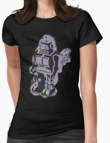 Robot Stencil Womens Fitted T-Shirt
