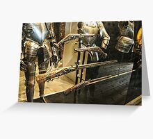 Antique Guns and Medieval Armour Greeting Card