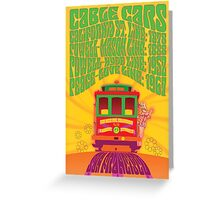 1960's Psychedelic San Francisco Cable Car Greeting Card