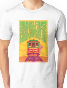 1960's Psychedelic San Francisco Cable Car Unisex T-Shirt