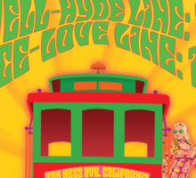 1960's Psychedelic San Francisco Cable Car Sticker