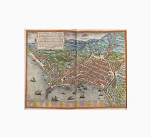 Vintage Map of Naples Italy (1572) Unisex T-Shirt