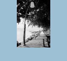 Empty wooden pier on tropical island Unisex T-Shirt