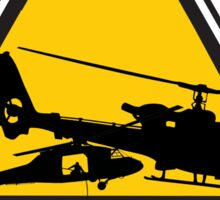 Low Flying Helicopters (2) Sticker