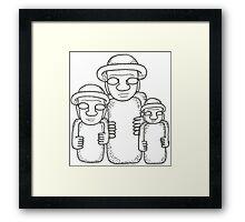 Korean Stone Grandfathers Framed Print