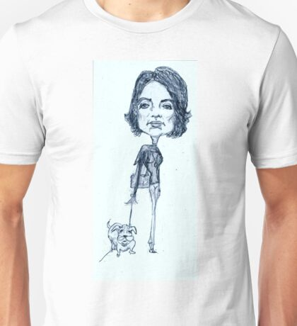 Jackie O on a stylish stroll Unisex T-Shirt