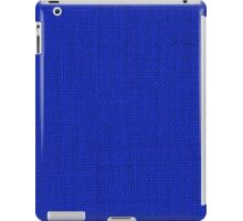 Natural Woven Royal Blue Burlap Sack Cloth iPad Case/Skin