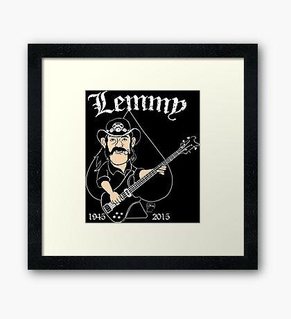 Lemmy Rocks Framed Print