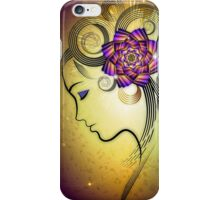 Woman with flowers iPhone Case/Skin