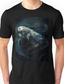 Polar Bear Swimming With Northern Lights Unisex T-Shirt