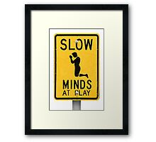 Slow Minds at Play Framed Print