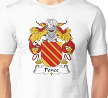 Ponce Coat of Arms/ Ponce Family Crest Unisex T-Shirt