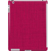 Natural Woven Hot Pink Burlap Sack Cloth iPad Case/Skin