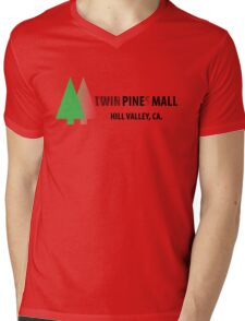 Twin Pines/Lone Pine Mall – BTTF, Optical Illusion Mens V-Neck T-Shirt