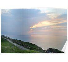 Perranporth Sunset  .  Cornwall Uk Poster