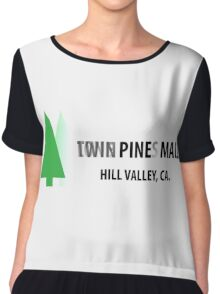 Twin Pines/Lone Pine Mall – BTTF, Optical Illusion Chiffon Top