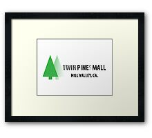 Twin Pines/Lone Pine Mall – BTTF, Optical Illusion Framed Print
