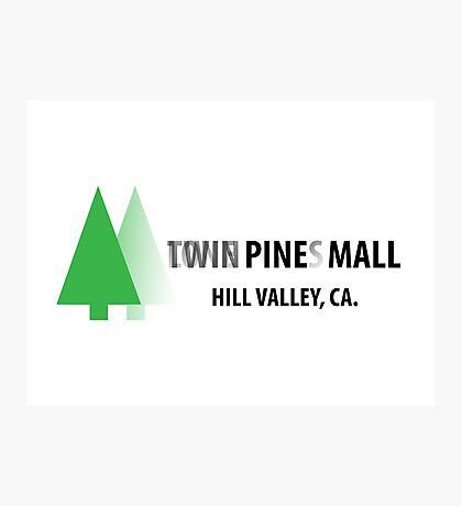 Twin Pines/Lone Pine Mall – BTTF, Optical Illusion Photographic Print