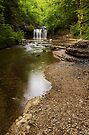 Gour Bleu waterfall on river Herisson by Patrick Morand