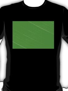 Macro shot of green leaf, nature pattern background T-Shirt