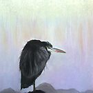 The Lone Heron by Linda Woodward
