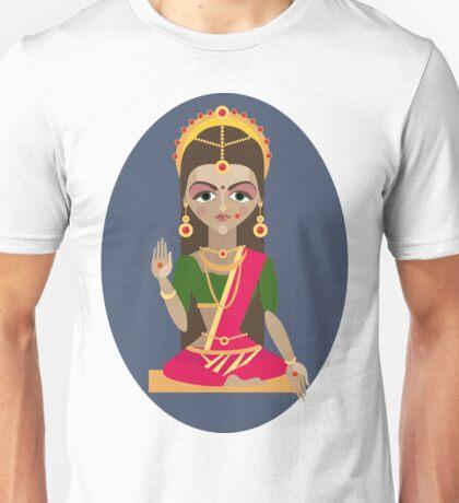illustration of Hindu deity mother Parvati Unisex T-Shirt