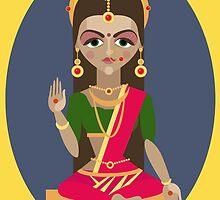 illustration of Hindu deity mother Parvati by OlgaBerlet