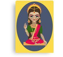 illustration of Hindu deity mother Parvati Canvas Print