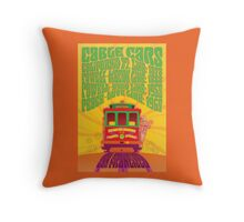 1960's Psychedelic San Francisco Cable Car Throw Pillow