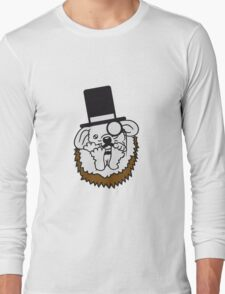 süße kleine niedliche igel familie 2 kinder mama papa geschwister  Long Sleeve T-Shirt