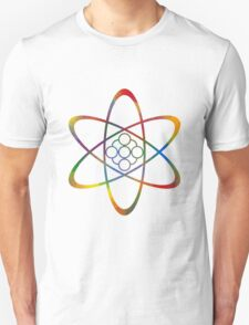 Rainbow Atom Unisex T-Shirt