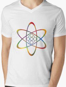 Rainbow Atom Mens V-Neck T-Shirt